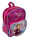 Undercover Disney Frozen Mochila con bolsillo delantero y efecto brillante, para escuela y tiempo...