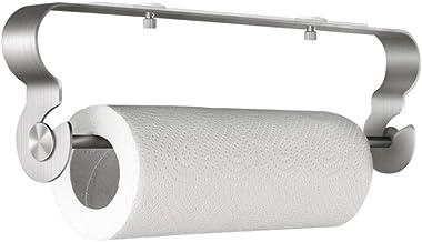 BangShou Portarrollos Papel Higienico Adhesivo Portarrollos de Cocina Debajo Del Gabinete Dispensador Soporte para Papel Acero Inoxidable Sin Perforar
