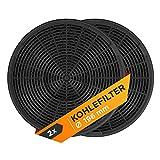 Aktivkohlefilter Filter 2 Stück Ersatz für 902979357/8 EFF62 Kohlefilter 196mmØ Geruchsfilter für Dunstabzugshaube Abzugshaube Dunsthaube