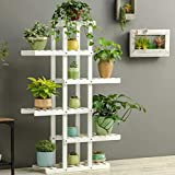 Magshion Wooden Flower Stands Plant Display Rack Choose 3 4 5 6 Shelf (6 Shelf White)
