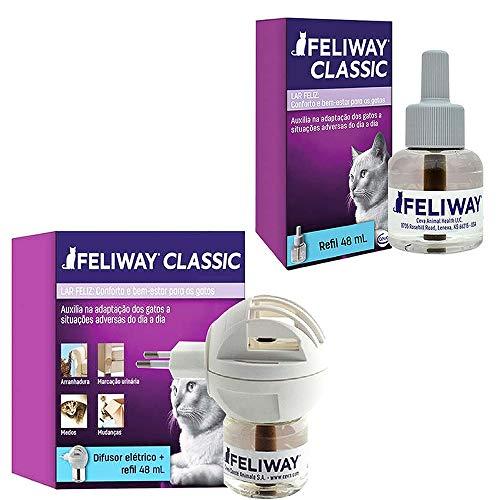 Combo Feliway Classic 1un Difusor Com Refil + 1un Refil 48ml