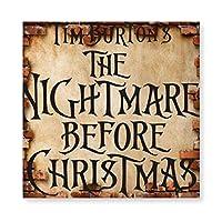 Nightmare Before Christmas 木製 額縁 フォトフレーム 壁掛け 木製 横縦兼用 絵を含む 40×40cm