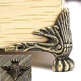 4 x Antiguo Joyería Caja Madera Pierna Protector de la Esquina Muebles