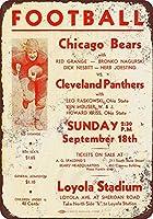Jesiceny New Tin Sign 1932年シカゴ・ベアーズ ビンテージ アルミメタルサイン 8x12インチ