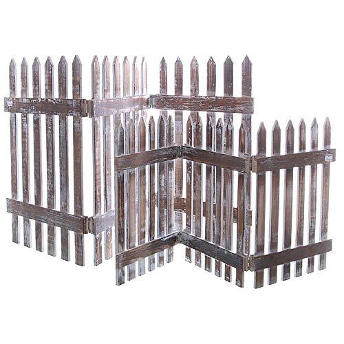 Holzzaun als Beeteinfassung 75,5 cm x 35 cm (L/H) - Beetumrandung Kleine Holzzäune Deko-Zaun Dekozaun Farbe Natur