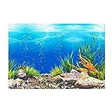 MagiDeal Pecera Efecto 3D Fondo del océano, PVC Adhesivo Mundo Submarino Acuario decoración Impermeable telón de Fondo póster Papel Pintado Paisaje Pegatina - 60x102cm