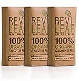 3 X Pack Mezcla orgánica de hierbas a base de hierbas 90g total 100% nicotina y tabaco, rico, aromático, aroma delicado y sabor natural suave sustituto del tabaco Real Leaf