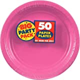 Pink Paper Plate Big Party Pack, 50 Ct.