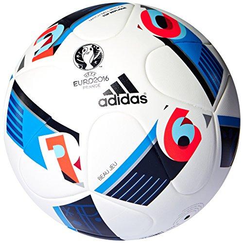 adidas Herren Fußball UEFA Euro 2016 Top Replique, white/bright blue/night indigo, 5, AC5450
