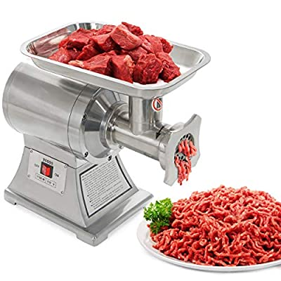 Ensue Commercial 1100W Electric Meat Grinder Mincer Stainless Steel Industrial 1HP (FDA Certificated) #12 Grinder Size