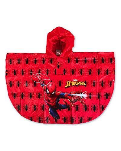 Spiderman - Poncho impermeabile con ragni rosso 2 anni
