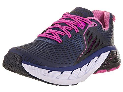 HOKA ONE ONE Women's Gaviota Stability Running Shoe,Medieval Blue/Fuchsia,US 5 M
