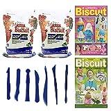 2 kg Porcelana fría Polycol Natural + herramientas para modelar + 2 revistas de biscuit