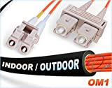 95M OM1 LC SC Fiber Patch Cable | Indoor/Outdoor...