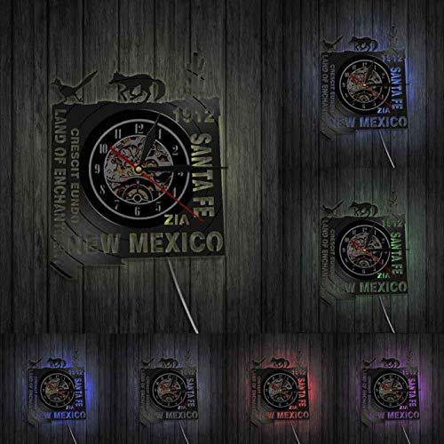 Land of Enchantment Vinilo CD Disco Reloj de Pared Reloj de Registro Reloj de Pared artístico de Sombras