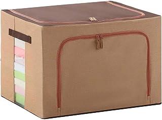 Boîte De Rangement Pliable Avec Poignée, Tissu 66L Grande Capacité De Finition Container, Ouverture Double Livres Quilt To...