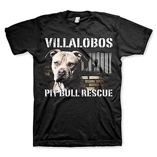 Das Villalobos-Rettungszentrum-Pitbull-Rettungsoberteil-T-Stück der Männer lustiges Baumwollt-Shirt