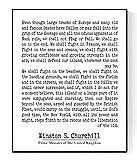 Winston Churchill Quote   Fight Them On The Beaches   Modern Minimalist Art Print (8x10)