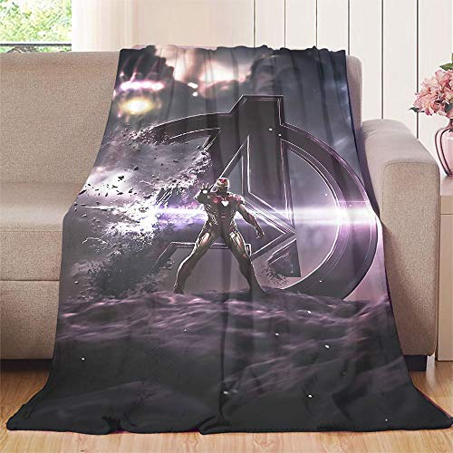 NUOMANAN Manta de playa Superhéroe, Iron Man para cama, sofá cama, sala de estar, 125 x 177 cm