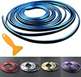 Car Interior Trim Strips - 16.4ft Universal Car Gap Fillers Automobile Moulding Line Decorative Accessories DIY Flexible Strip Garnish Accessory with Installing Tool (5M-Blue)