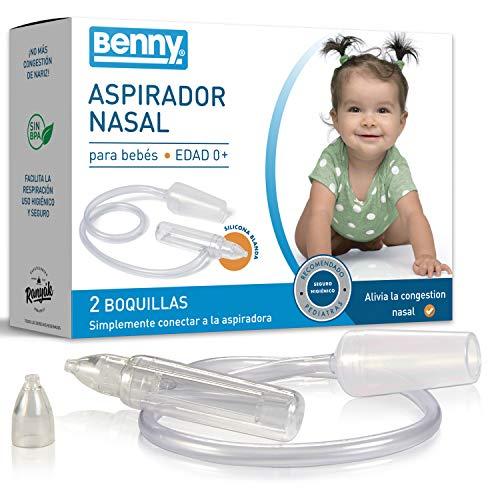 NUEVO: Aspirador Nasal Bebes con regulación automática de la presión - 0% BPA, sin alimentación electrica directa, el método más seguro