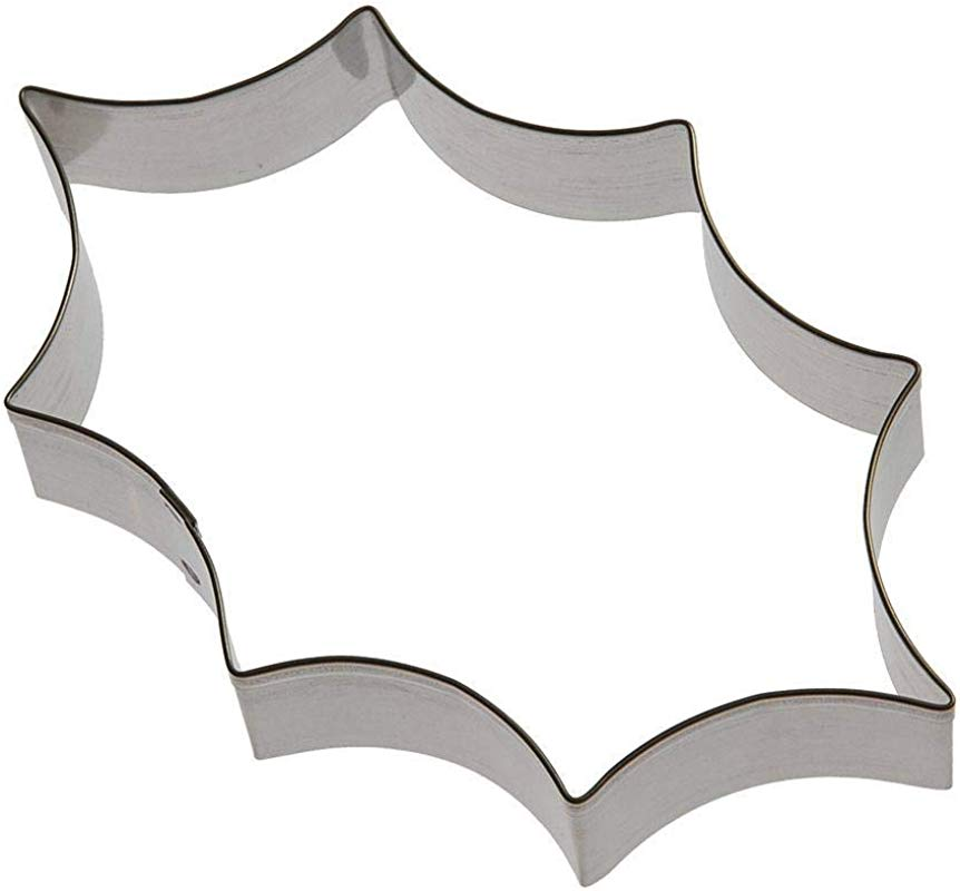 Holly Leaf Cookie Cutter 5 5 In B0530 Foose Cookie Cutters USA Tin Plate Steel