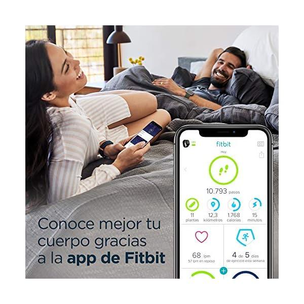 Fitbit Versa 2, Smartwatch con control por voz, puntuación del sueño y música, batería de +4 días 7