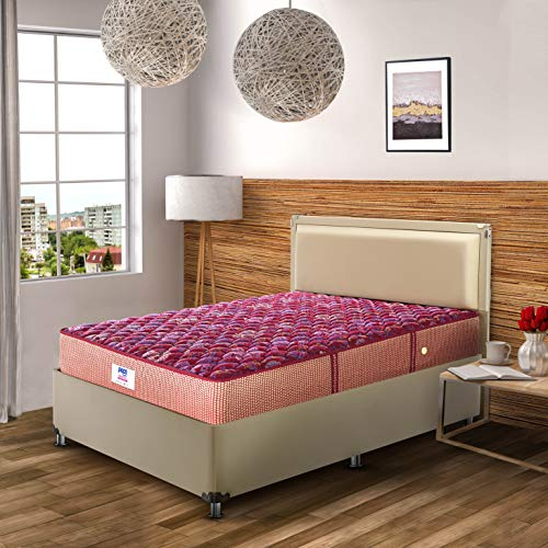 Peps Springkoil Bonnell 6-inch King Size Spring Mattress (Maroon, 72x72x06) with Two Free Pillow