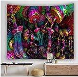 Yhjdcc Tapiz de decoraci¨n Bohemio para la Familia Que cuelga una Gran casa de Setas Tapiz Fluorescente del pa¨ªs de Las Hadas 150cm x 200 cm