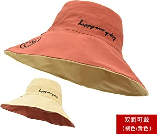 DLEB Female Double-Sided Fisherman hat Summer Wild Anti-Purple Outer Cover face Sun hat Sun Shade Sun hat
