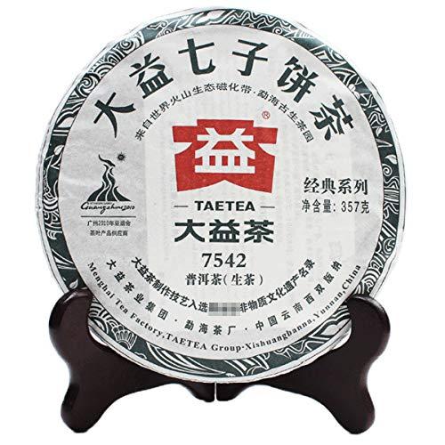 Chinese TAETEA Puerh Raw (Sheng) Dayi Classic Series Yunnan Puer Tea Cake – Original Black Pu'er Gongfu Tea for Weight...