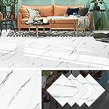 livelynine pavimento pvc adesivo bianco rivestimento pavimento adesivo mattonelle adesive cucina lavabile pavimenti autoadesivi per pareti piastrelle adesive bagno 4 pezzi 30x30cm