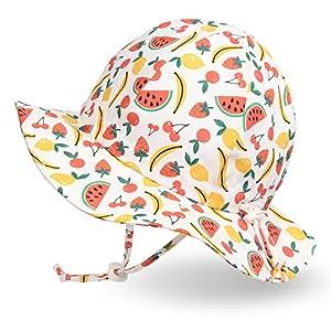 Ami&Li tots Girls Boys Adjustable Wide Brim Sun Protection UPF 50 Baby Girl Boy Sunhat Infant Kids Toddler Sun Hat