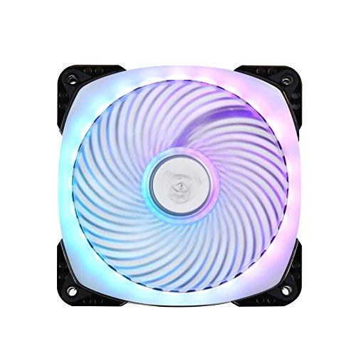 SilverStone SST-AP124-ARGB - Air Penetrator, Ventilador de refrigeración de 120mm PWM Rodamientos de bolas, Aspas transparentes con marco negro, Alto flujo de aire, RGB programable