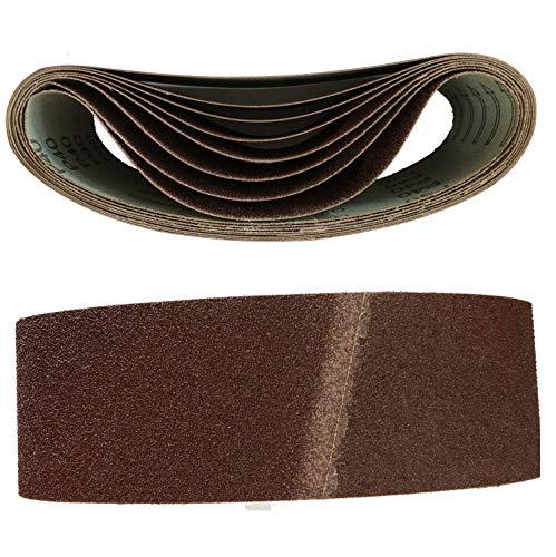 Bandas de lija (10 unidades, 75 x 457 mm, grano 60