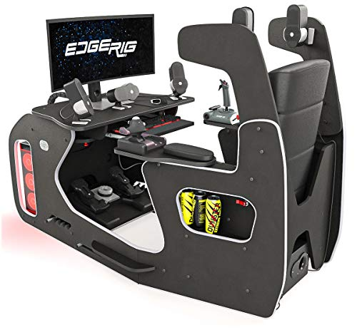 Dunster House EdgeRig Sim Rig Gaming Chair Compatible with PC, PS4 and XBOX Consoles