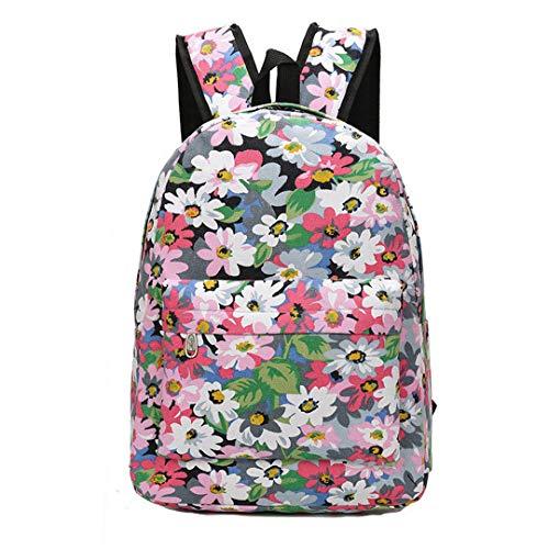 Mochila Escolar Estampada Floral Colorida