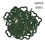 Beaurce 100 Unids/Set Clips de Soporte para Plantas, Flor y Vid, Clips de Soporte para Plantas de Tomate de jardín Reutilizables para Tallos de Soporte Plantas trepadoras, Herramienta para enderezar