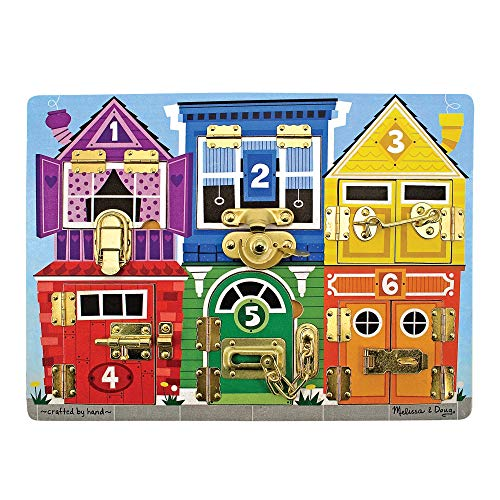 Melissa & Doug Wooden Latches Board (Frustration-Free Packaging)