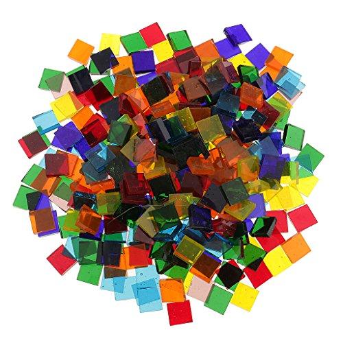 Hellery Azulejo de Mosaico de Vidrio Estilo Mant para Navidad, Manualidades de Bricolaje, Fabricación de Mosaicos para Niños - tal como se describe, 11mm