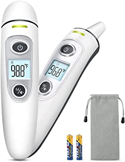 Baby Thermometer - Forehead & Ear Thermometer with Fever Alarm & Memory Function, Non Invasive & Quick Read, Digital Infrared Medical & Home Thermometer for Kid & Adults (Baby Thermometer-1)