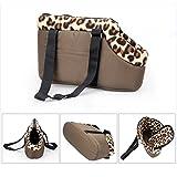 Tping Tragbar Hundetasche Tragetasche Leopard Stil Pet Bag Single Shoulder