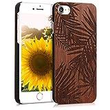 kwmobile Hülle kompatibel mit Apple iPhone 7/8 / SE (2020) - Handy Schutzhülle aus Holz - Cover...