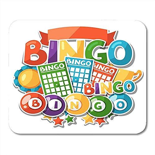 Mouse Pads Award Lotto Bingo Loterij spel met ballen en activiteit Board muismat voor Notebooks Computers Muismatten benodigdheden - 9.4x7.8 inch