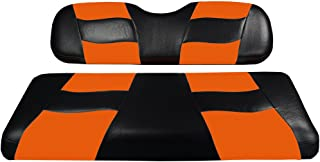 Madjax Riptide 2001-Up Black/Orange Two-Tone Front Seat Cover for Club Car DS Golf Carts