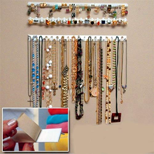 9pcs Jewelry Pendant Chain Necklace Clip Organizers Storage Rack Hanging Hook WT