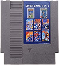 Mega Man 1-6 Castlevania 1 2 Game Card 72 Pin 8 Bit Cartridge for NES - Retro Games Accessories Cartridge For Nintendo - 1 x 8 IN 1 Game Cartridge