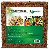Envelor Coco Coir Husk Chips 2 Cu. Ft. Shredded Coconut Fiber Mulch Plant Chip Orchid Potting Mix Coir Growing Media Outdoor Garden Planting Potting Soil For Indoor Plants