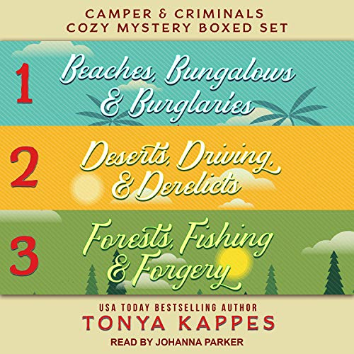 Camper and Criminals Cozy Mystery Boxed Set, Books 1-3 Audiobook By Tonya Kappes cover art