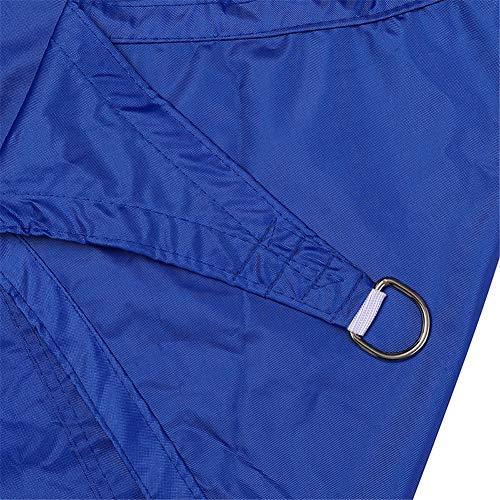 Voile d'ombrage, D-ring, triangle équilatéral, tissu Oxford, protection imperméable et UV, used for Jardin Piscine Cour extérieure, 3m * 3m * 3m (13)